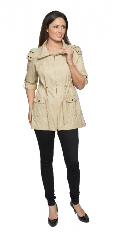 Womens Stone Travel Jacket With Hood db321